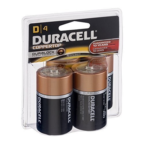 Duracell Alkaline Battery Size D 1.5 V 4 Ct 6 Pack