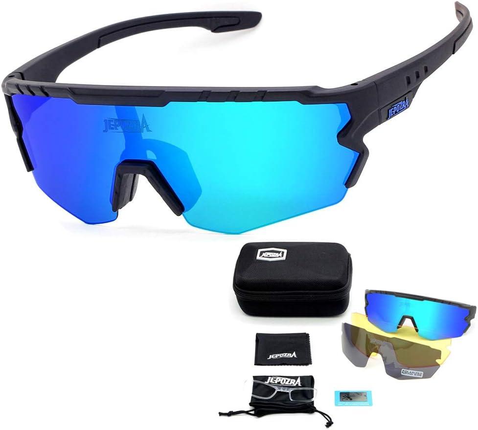 JEPOZRA Polarized Sports Sunglasses Cycling Bike Driving Running Fishing Bicycle Glasses