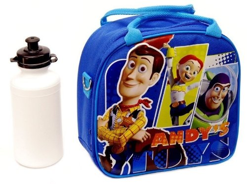 Disney Toy Story Lunch - New Disney Toy Story Lunch Box Bag with Shoulder Strap and Water Bottle!! Blue