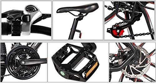 SAMEBIKE MY-SM26 Bicicleta de montaña eléctrica de 26 pulgadas, 48 V, 350 W, Ebike 3 modos, 21 velocidades, LCD para adultos: Amazon.es: Deportes y aire libre