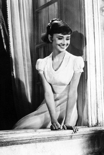 Audrey Hepburn Roman Holiday Sitting In Window 24x36 Poster At