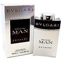 Bvlgari Man Extreme Eau De Toilette Spray for Men, 3.4 Ounce