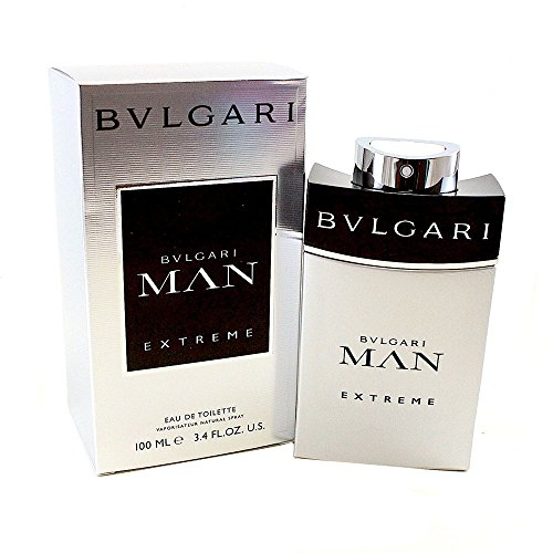 Bvlgari Man Extreme Eau De Toilette Spray for Men, 3.4 Fluid Ounce Bvlgari 3.4 Oz Eau De Toilette Spray