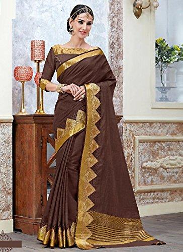 Shree-Designer-Sarees-Womens-Foremost-Dark-Maroon-Tussar-Silk-Saree-FS