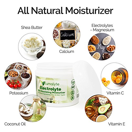Lumalyte Skin Care Lotion - All Natural Moisturizer with Shea Butter and Electrolytes - Magnesium and Calcium and Potassium Plus Vitamin E and Coconut Oil - Nourishes for Smooth Soft and Healthy Skin ()