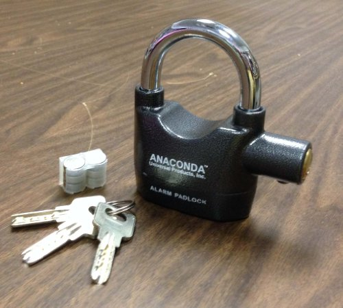 Anaconda Siren Alarm Lock Anti-Theft Security System Door Motor Bike Bicycle Padlock 120dB with 3 Keys