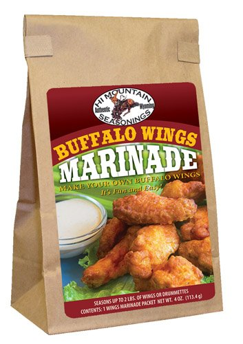 Hi Mountain Jerky Buffalo Wing Marinade, 0.65-Pound Bags (Pack of 3) ()