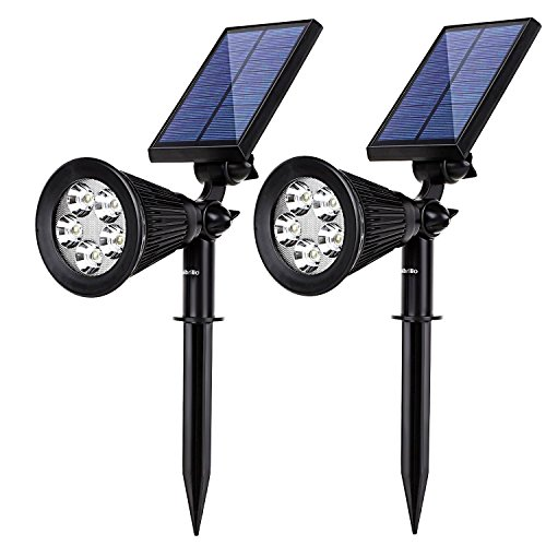 Albrillo Solar Spotlights Outdoor IP65, Rechargeable Dimmabl
