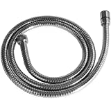 Atree Chromed Stainless Steel Double-buckle Flexible Shower Hose Handshower Hose Shower Tube-60 Inches (1.5 Meter)