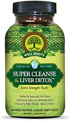Well Roots Super Cleanse and Liver Detox Supplement, 60 Count