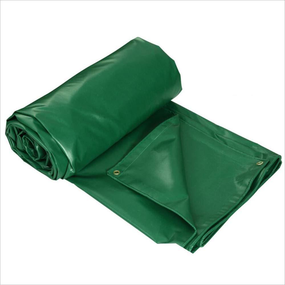 ZHULIAN Wasserdichtes Tuch, grünes PVC-Staubdichtes Regendichtöl-Tuch im Freien Markisentuch-Einfassungs-Segeltuch