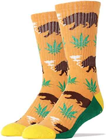 b12b9cd29f05c Oooh Yeah Socks Men's Luxury Combed Cotton Athletic Funny (BEARY CALIFONIA  ye.