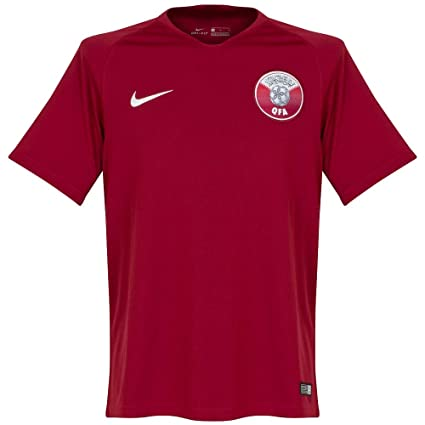 NIKE 2018-2019 Qatar Home Football Soccer T-Shirt Jersey