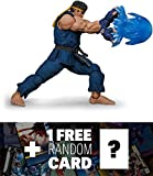 Ryu [Special Edition Blue Ver]: ~7'' 1/12 Street Fighter V x Storm Collectibles Action Figure + 1 FREE Video Games Themed Trading Card Bundle
