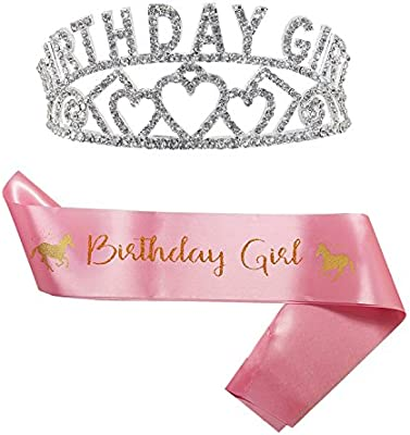 Amazon Princess Birthday Girl Tiara And Sash