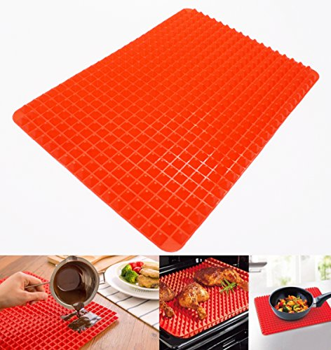 Baking Mat, KOOTIPS Premium Non-slip Non-stick Silicone Pastry Mat Healthy Cooking Baking Mat Extra Large for Silicone Baking Mat Counter Mat Thanksgiving Day Turkey Mats (10.5 x 15.5 inch)
