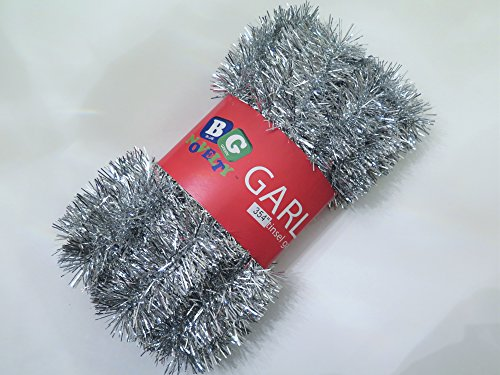 Silver Foil Tinsel Christmas Garland 354