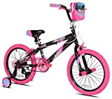 Kent 18'' Sparkles Girls Bike, Black/Pink Summer Toy Kids Outdoor Play