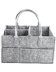 LOLOVI WANMEI Bärbar babyblöjorganisatör handväska filt barnkammare förvaringskorg med utbytbara fack stor kapacitet flera fickor