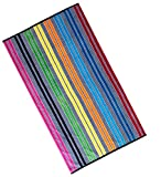 Best Rainbow Towel For Bath Beaches - Espalma Resort Cabana Stripe Beach Towel, Large Oversized Review