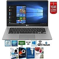 LG gram 14.0 Intel 8th Gen i7-8550U Ultra-Slim Touch Laptop - 14Z980-A.AAS7U1 + Elite Suite 17 Standard Software Bundle (Corel WordPerfect, PC Mover,PDF Fusion,X9) + 1 Year Extended Warranty