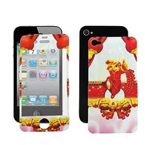 Cartoon dragón Imprimir pantalla LCD Protector de pegatinas para el iPhone de Apple 4 4S