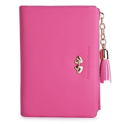 Heart Girl Wallet (Vbiger Candy Color Girl's Wallets Lovely Short PU Purse for Women (Pink))