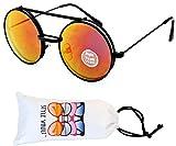 V137-vp Flip up/Out Round Metal Sunglasses 2