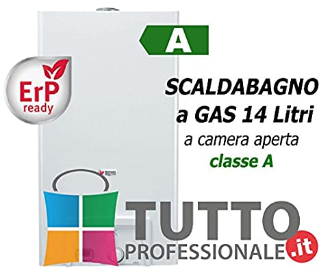 Scaldabagno Scaldino A Gas Metano 14 Litri OPALIA C 14 Saunier Duval Classe  A Acqua Calda