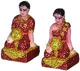 Thai Spirit House Servants Man And Woman Resin Figurines /Size: S /4