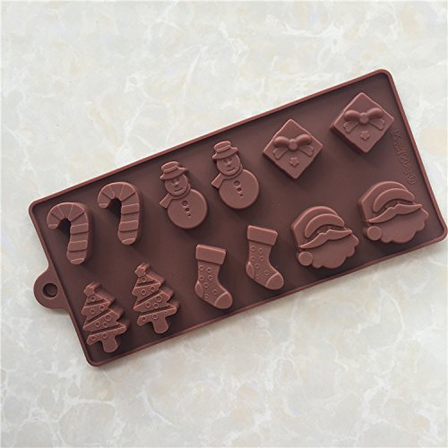 Silicone Mold - Series Of 12 And 6 Set Christmas Silicone Mo