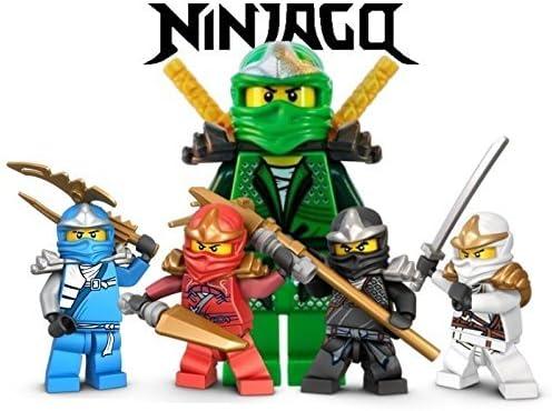 Amazon.com: Ninjago Lego Lucha Warriors 1/4 Hoja Comestible ...