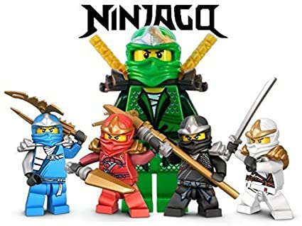 Ninjago Lego Fighting Warriors 1/4 Sheet Edible Photo Birthday Cake Topper  Frosting Sheet Personalized Party