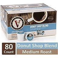 Donut Shop Blend Single Serve K Cups, 80 Count, Medium Roast Coffee Pod by Victor Allen, Keurig 2.0 Brewer Compatible