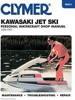 amazon com clymer manuals kawasaki jet ski sport manual w801 rh amazon com 1991 Kawasaki Jet Ski 650 1995 Kawasaki TS Jet Ski