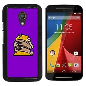 // PHONE CASE GIFT // Duro Estuche protector PC Cáscara Plástico Carcasa Funda Hard Protective Case for Motorola G 2ND GEN II / Funny Crazy Duck /