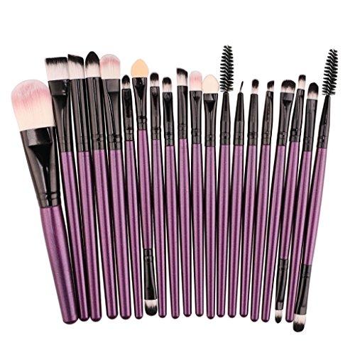 M A C Professional Makeup Brushes - Honhui 20 pcs Makeup Brush Set tools Make-up Toiletry Kit Soft Wool Make Up Brush Set (M)