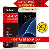 Galaxy S7 Glass Screen Protector, [3 Pack] AnoKe(0.3mm 9H 2.5D) Tempered Glass Screen Protector Anti Scratch with Lifetime Replacement Warranty For Samsung Galaxy S7,3 Pack