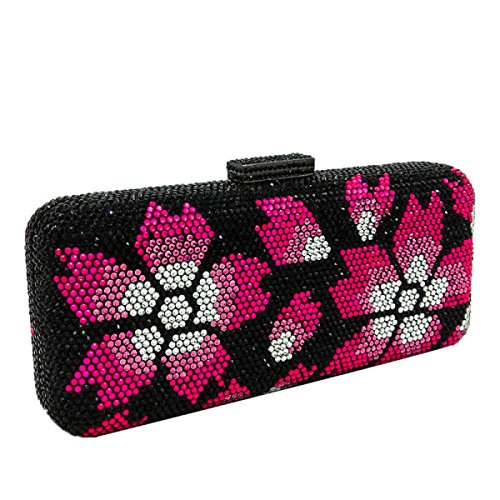 FZHLY Ladies Hand Evening Bag Patrones De Flores Embrague De Perforación En Caliente
