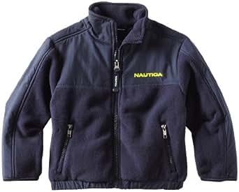 Nautica Little Boys' Polar Fleece Full Zip Jacket, Sport Navy,S(4)