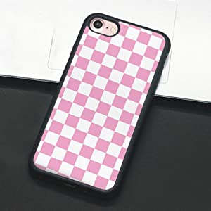 Checkerboard Phone Case Compatible with iPhone 11 Pro Max XS XR X 7 8 Plus 6 6s 5 5s Hard Cover Grid Lattice Plaid Tartan Damier Chessboard Checker Flag (Compatible with iPhone X, 4)