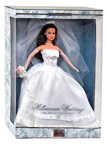 1999 Millennium Wedding Barbie (Brunette Bride Doll)