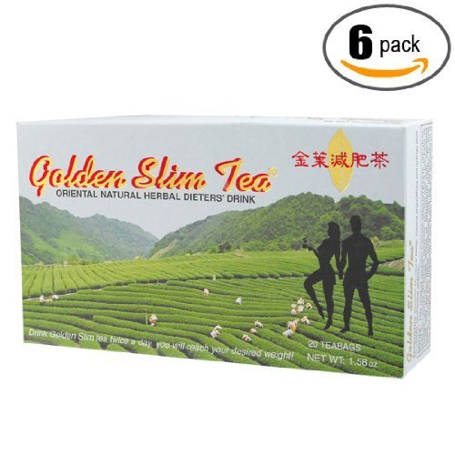 6pk - Golden Slim Tea - Dieta Dorada - Diet Drink