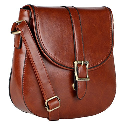 WOMEN'S LINO SLING LINO LEATHER BAG BROWN PERROS PERROS rX7Aqr
