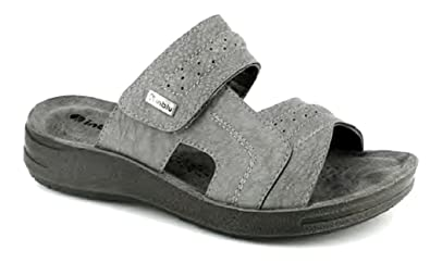 5ba20f2cd574 INBLU Men s Slippers Grey Grey 5 Grey Size  12  Amazon.co.uk  Shoes ...
