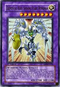 Amazon.com: Yu-Gi-Oh Gx Elemental Energy Foil Card ...Elemental Hero Shining Flare Wingman Deck