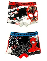 Official Boys Paw Patrol,Spiderman, Power Rangers 2&3 PACK Boxer Shorts Underwear