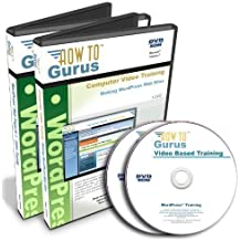 WordPress Website Software Tutorial and WordPress Projects on 2 DVDs