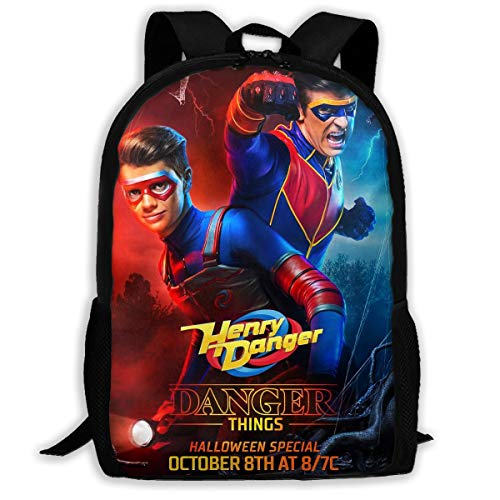 Lightweight Backpack For School, Danger TV Show Of Henry Casual College Book Bags Travel Rucksack Fit 15 Inch Laptop