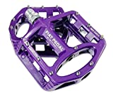 Sms Eveter Magnesium Lightweight Mountain Bike Pedal Platform Cycling Alloy Flat Pedals 5051 (Purple)